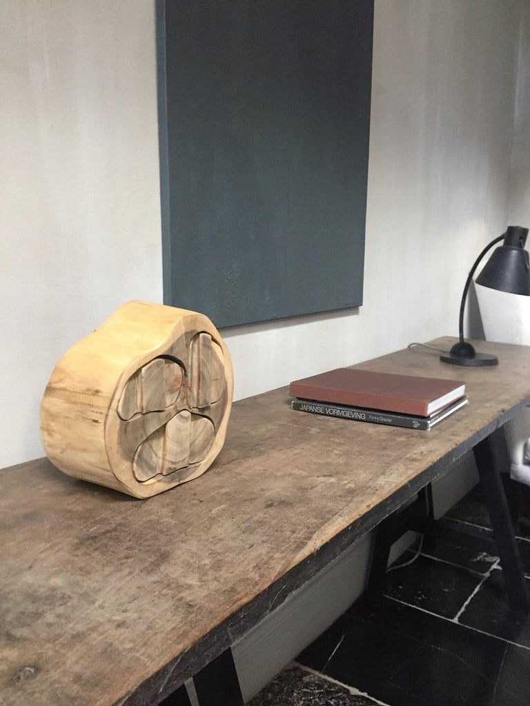 Contemporary Wood Turned Box For Sale 7