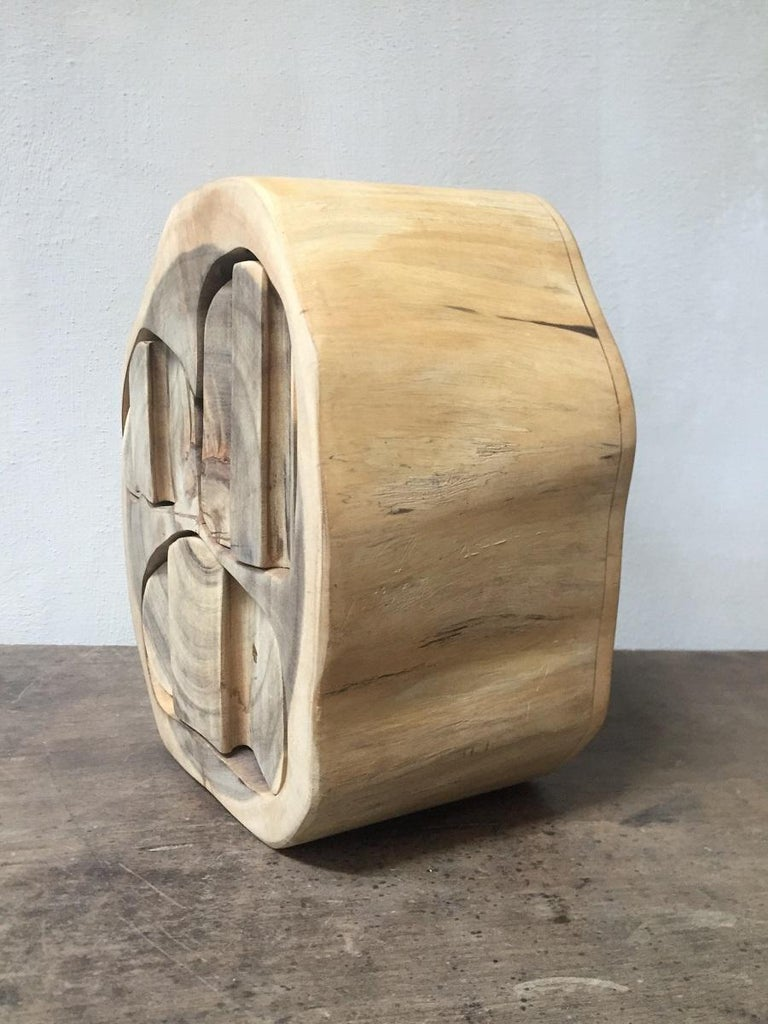Contemporary Wood Turned Box For Sale 2