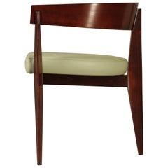 Zeitgenössischer Holz-Sessel mit Sitzpolster