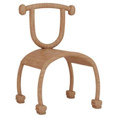 Contemporary Wooden Smile Chair by Rejo Studio