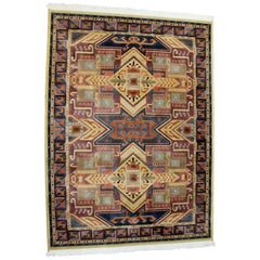 Contemporary Wool Mirage Area Rug Carpet, 1990s
