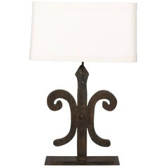 Contemporary Wrought Iron Lamp