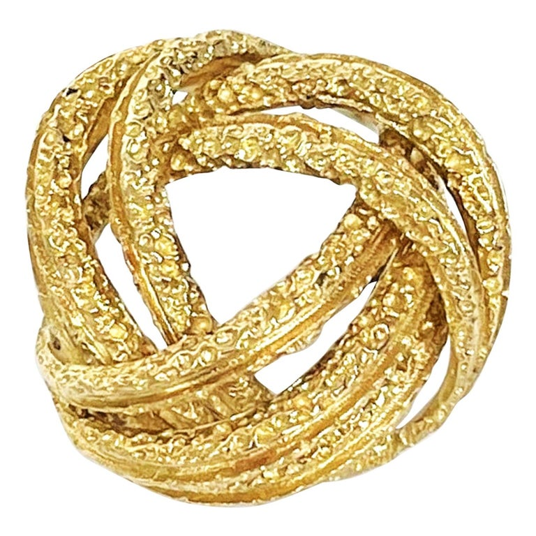 Contemporary Yellow Gold Brooch For Sale