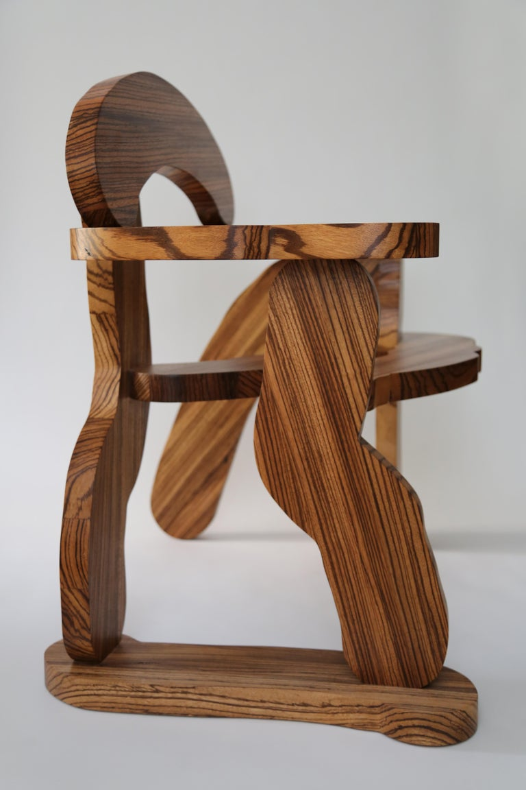 Contemporary Zebrano Wood Armchair by Soft Baroque In New Condition For Sale In Copenhagen, DK