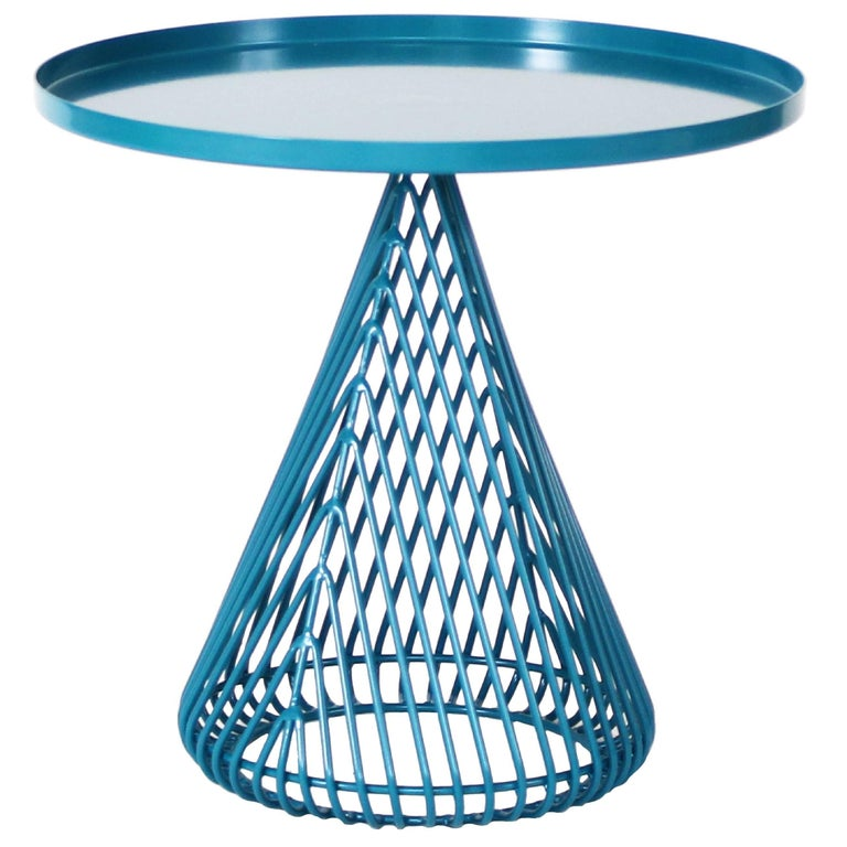 Contemporary, Wire and Sheet Metal, Cocktail Cono Side Table by Bend Goods