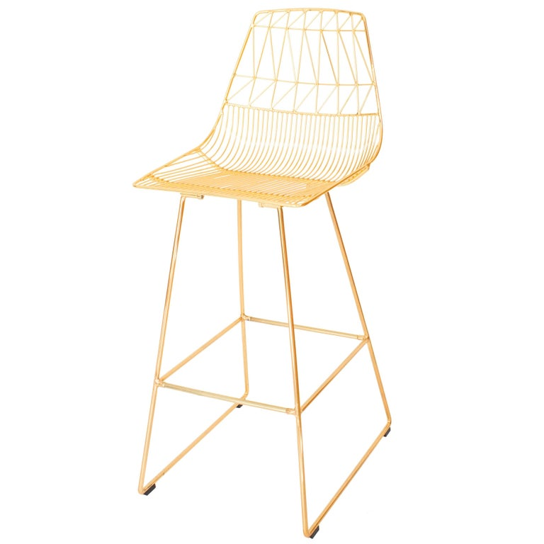 Contemporary Wire Lucy Bar Stool By Bend Goods For Sale