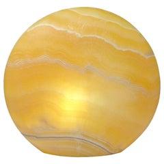 Contemporay Natural Yellow Onyx Table Top Mood Lamp