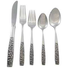 Contessina by Towle Sterling Silver Floral Flatware Set for 8 Service 45 Pieces