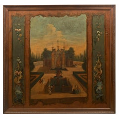 Continental 18th Century Oil on Canvas Painting