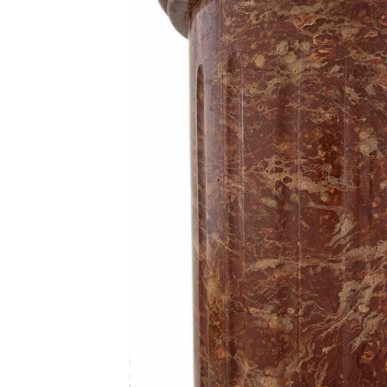 Neoclassical Continental 19th Century Classical Style Faux Marble Column For Sale