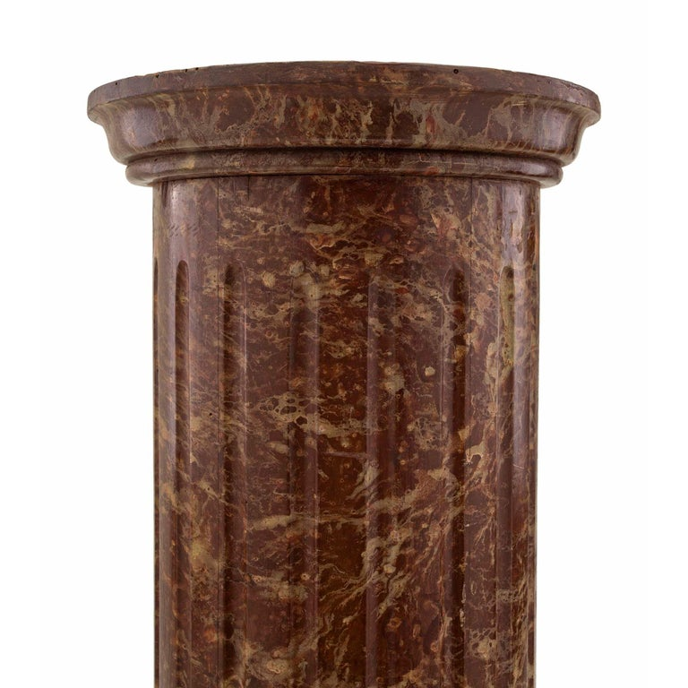 Unknown Continental 19th Century Classical Style Faux Marble Column For Sale