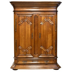 Continental 19th Century French Walnut Armoire Outfitted to Function as a Bar