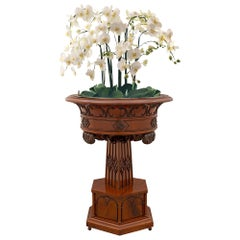 Continental 19th Century Gothic Style Mahogany Planter