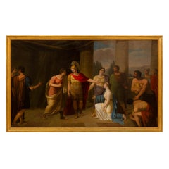 Continental 19th Century Neoclassical Style Oil on Canvas Painting
