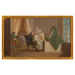 Continental 19th Century Oil on Canvas Painting