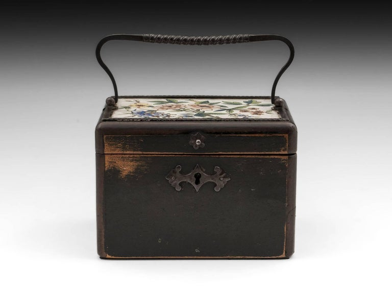 George III Continental Georgian Wooden Sycamore Hungarian Tea Caddy, Early 19th Century For Sale