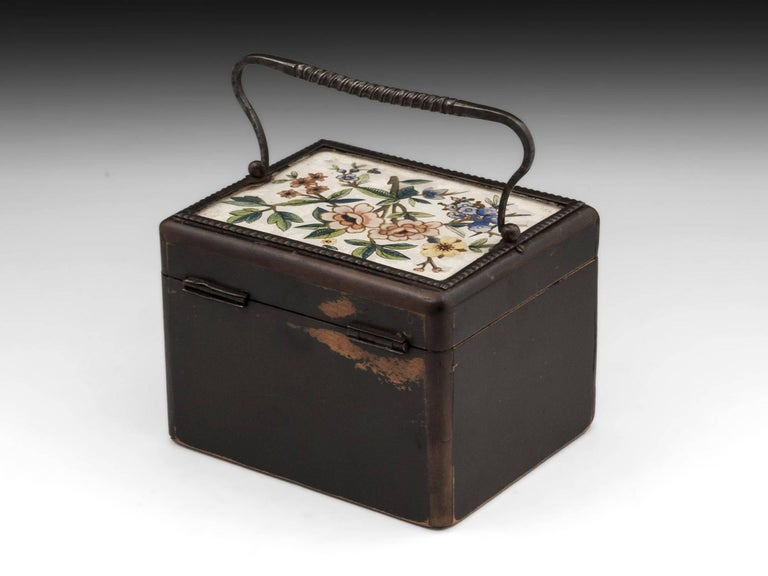 Glass Continental Georgian Wooden Sycamore Hungarian Tea Caddy, Early 19th Century For Sale