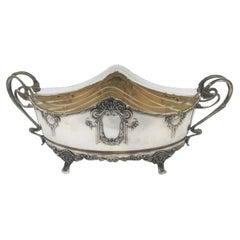 Continental Austrian Silver Centerpiece Bowl in Art Nouveau Style