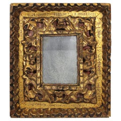 Continental Baroque Giltwood Frame with Heavy Carved Foliage