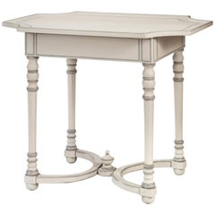 Continental Baroque Gray Painted Table