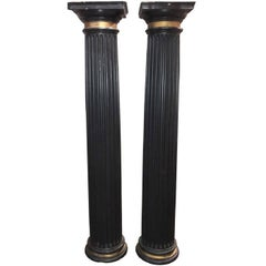 Continental Black Lacquered Architectural Columns