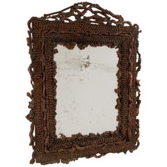 Late 19th Century Continental Burl Root Mirror