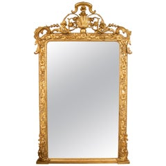 Continental Carved and Gilded Wall Mirror