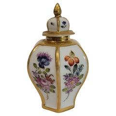 Continental Chinoiserie Porcelain Tea Caddy 19C