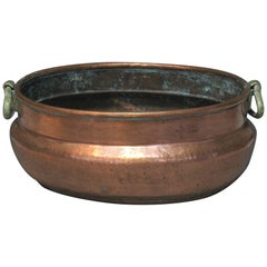 Continental Copper Oval Wine Cooler or Jardinière