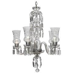 Continental Cut Glass Five-Light Chandelier