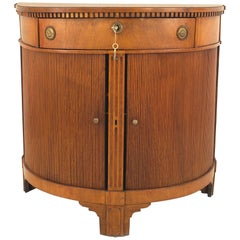 Continental Dutch Fruitwood Demilune Shaped Commode