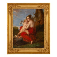 Continental Early 19th Century Neoclassical Style Oil on Canvas Painting