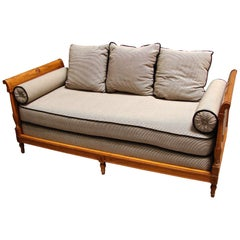 Continental Fruitwood Biedermeier Style Upholstered Daybed