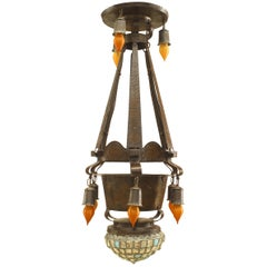 Continental German/Austrian Arts & Crafts Chandelier