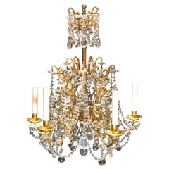 Continental Gilt Bronze and Crystal Chandelier