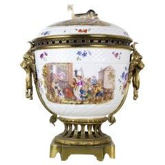 Continental Gilt-Bronze Mounted Porcelain Potpourri