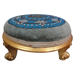 Continental Louis XV Style Beaded Giltwood Footstool