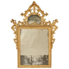 Continental Louis XV Style Giltwood Mirror