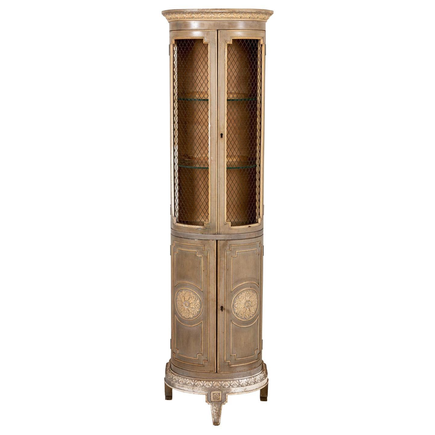 Continental Louis XVI Style Cabinet with Grill Doors