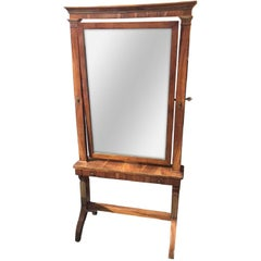 Continental Mahogany Cheval Mirror