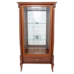 Continental Mahogany / Glass Display Cabinet