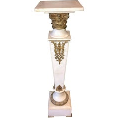 Continental Marble and Bronze Pedestal