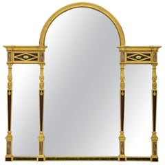 Continental Mid-19th Century Neoclassical St. Three-Panel Mirror