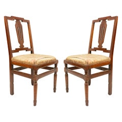 Continental Neoclassic Mahogany Side Chairs