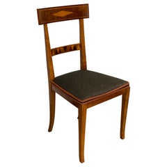 Continental Neoclassical Style Mahogany Side Chair