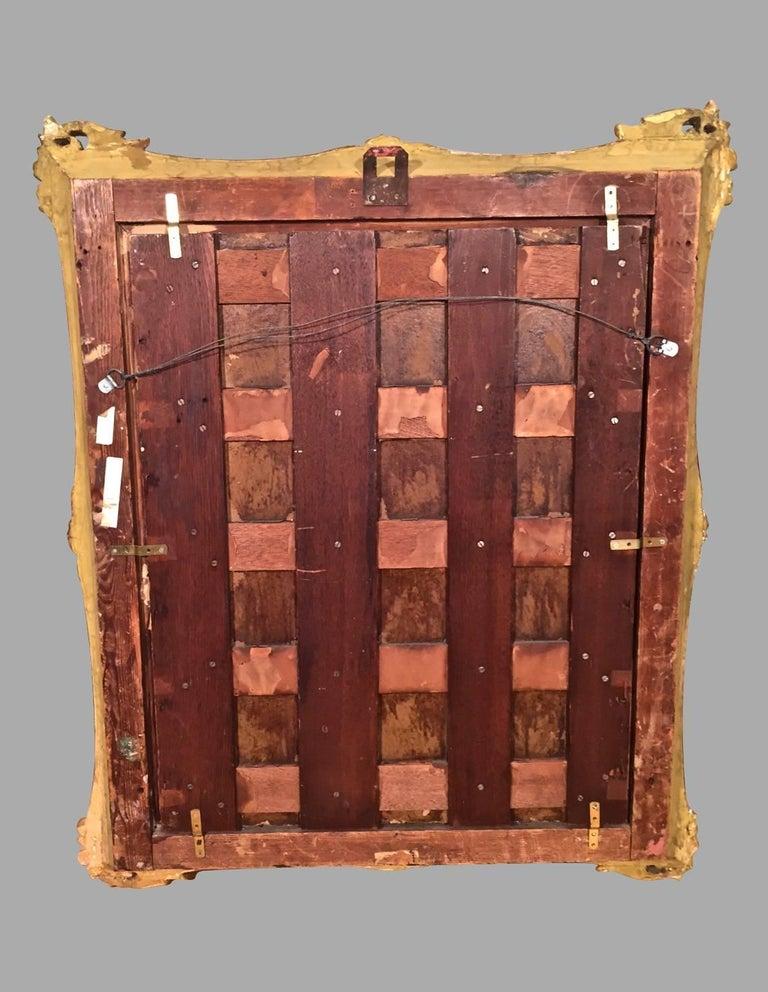 Continental Oil on Cradled Wooden Panel Landscape in Gilt Frame For Sale 2