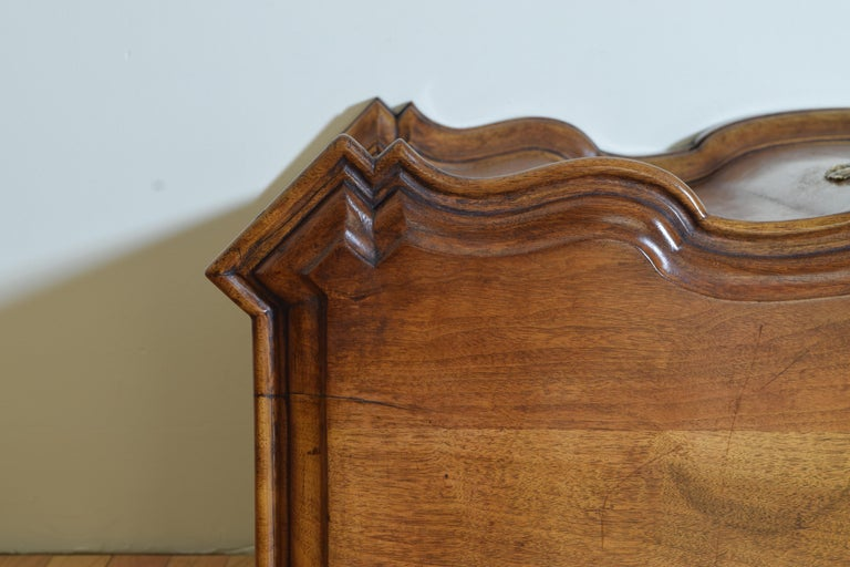 Continental Rococo Style Walnut Serpentine Front 2-Door Cabinet, Early 20th Cen For Sale 6