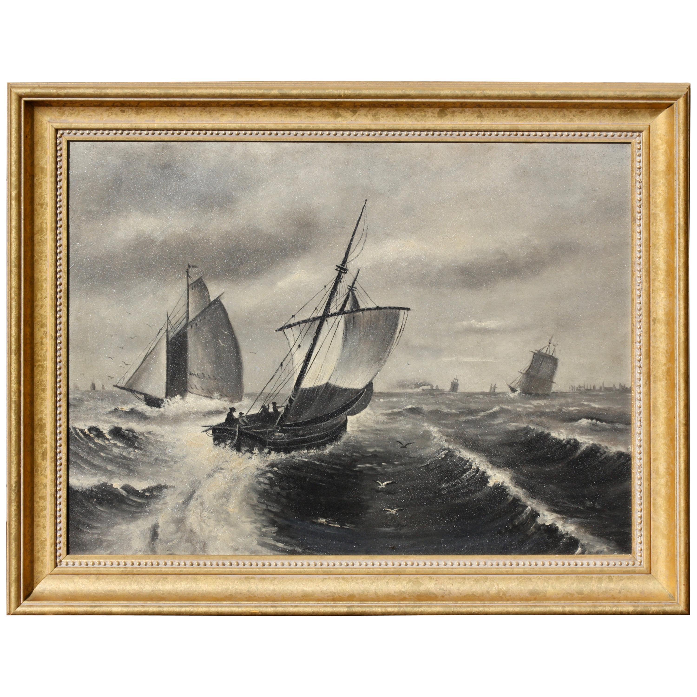 "Continental School 19th-20th Century ""Stormy Seas"""
