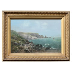 Continental School, Seascape, Oil on Canvas Gallery Label John Britnell