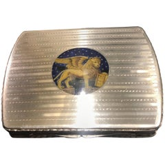 Continental Silver and Enamel Calling Card or Cigarette Case